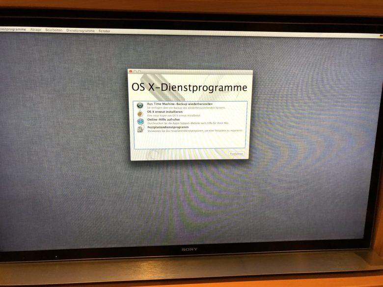 Wiederherstellung aus Time Machine-Backup ist möglich. SSD plötzlich leer