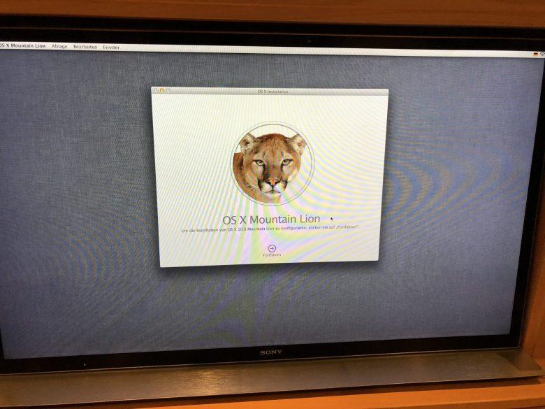 Die Wiederherstellungsoption bot nur OS X Mountain Lion 10.8 an