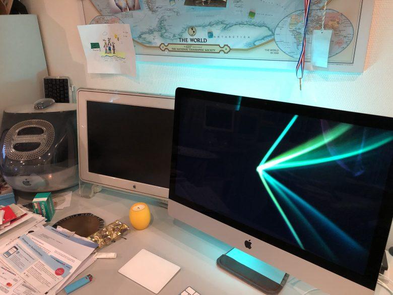 Drei iMacs aus 20 Jahren. Computermuseum wegen Überfüllung geschlossen