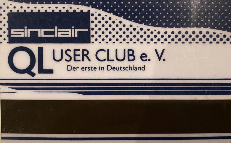 Mein Mitgliedsausweis vom Sinclair QL User Club e.V.