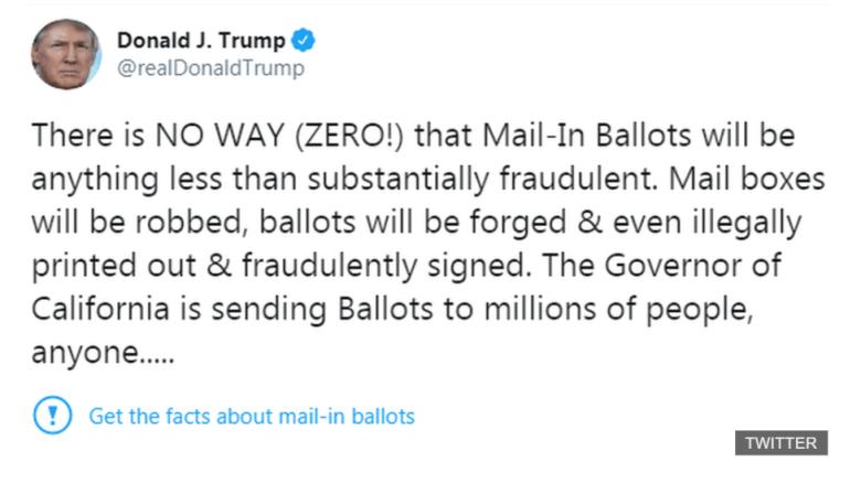 Twitter-Tweet von Präsident Nr. 45. Mit einem Fact Check seiner Alternativen Fakten.