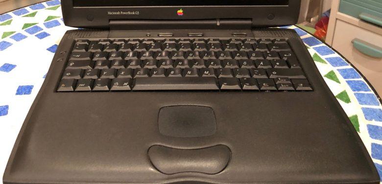 """Hervorragende Tastatur beim Apple Powerbook G3 """"Wallstreet"""". Entwicklung der Computertastaturen"""