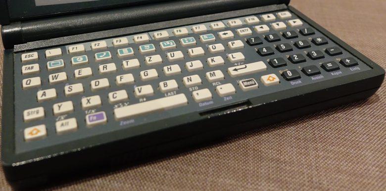 Mini-Tastatur des HP 200 LX. Entwicklung der Computertastaturen