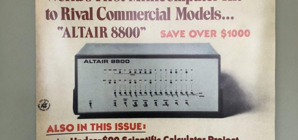 Popular Electronics Ausgabe mit dem Altair 8080