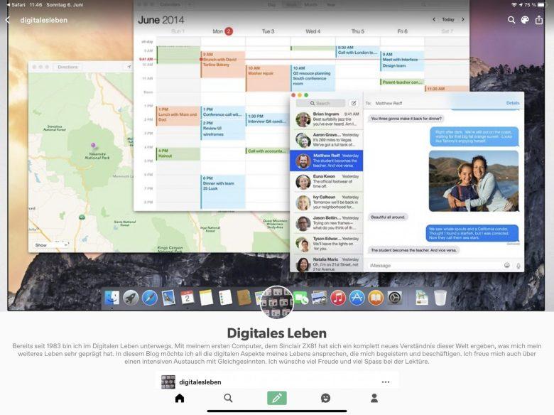 Screenshot des Digitalen Leben auf tumblr. Umzug von Google+ auf tumblr