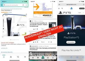 Die PlayStation 5 ist schwer zu bekommen. Screenshots von Amazon Foraum und Sony. Wie kaufe ich erfolgreich eine PS5