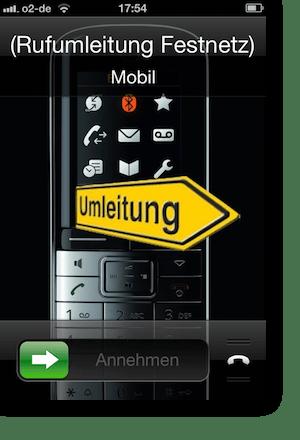 Rufumleitung vom Festnetz am iPhone anzeigen