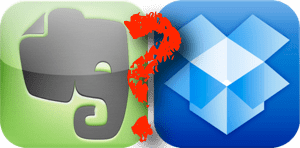 Ist Dropbox ein Evernote Ersatz? Oder umgekehrt? Oder etwa gar nicht?