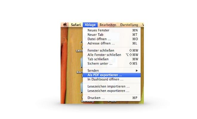 Neu in Mavericks: Als PDF exportieren