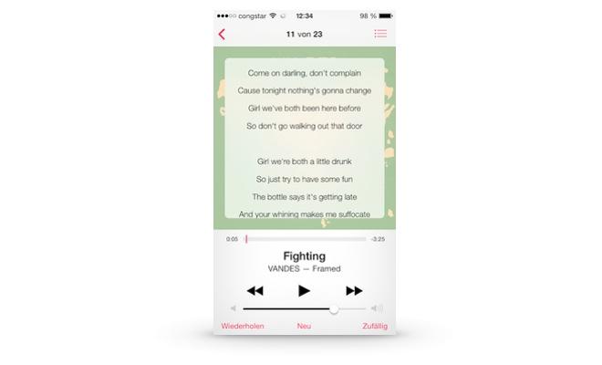 Liedtexte im iTunes Musicplayer anzeigen (iOS 7)