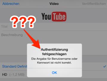 Per anwendungsspezifischem Passwort ins YouTube-Konto einloggen