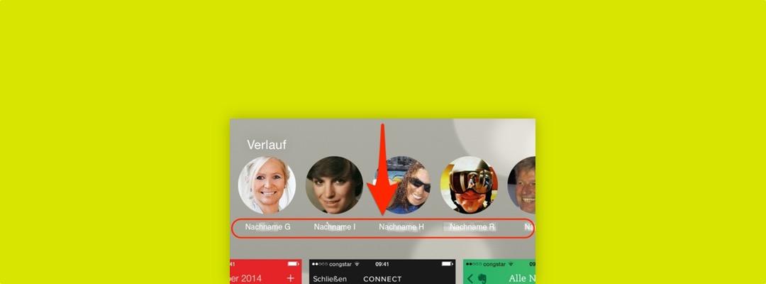 Im App-Umschalter die Kontakte mit Vornamen anzeigen