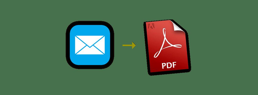 PDF erstellen aus Mail.app (iOS)
