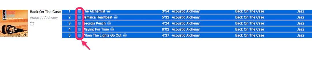 Was bedeutet die kleine Checkbox bei Titeln in iTunes?