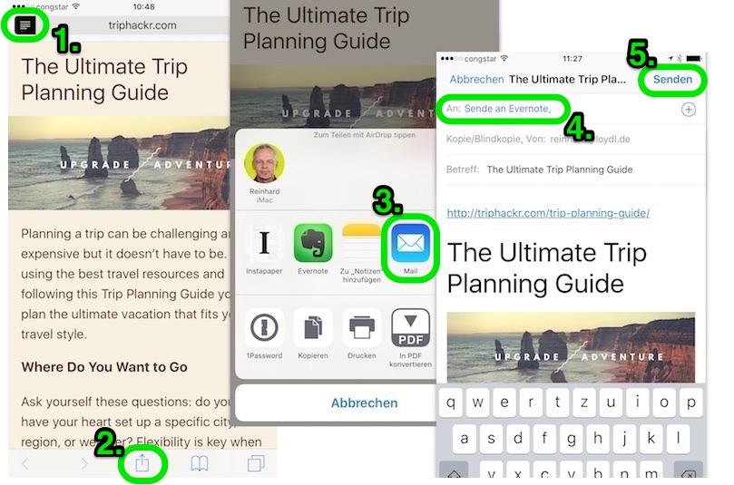 Artikel ohne Formatierung senden (iOS)