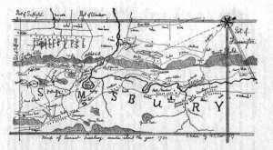 Simsbury's landscape in 1730.