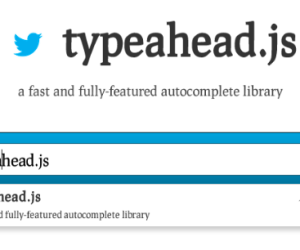 Smart search using Twitter Typeahead and Bloodhound