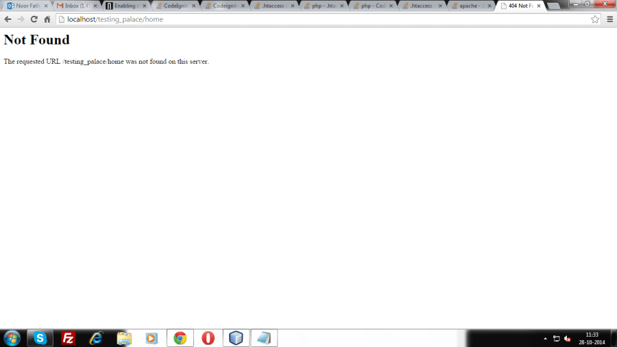 htaccess not working