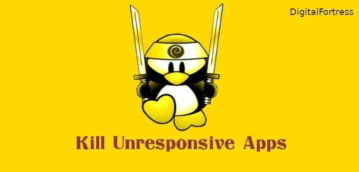 Force kill unresponsive program