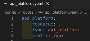api-platform config