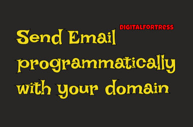 send email programmatically with your domain