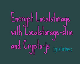 Encrypt Localstorage