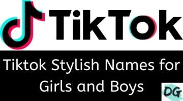 stylish name for tiktok