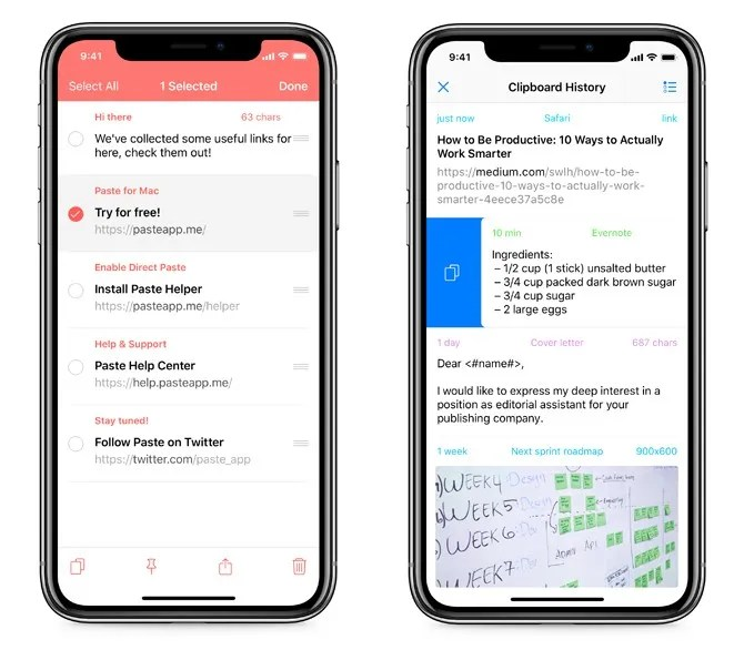 iphone clipboard managers - Paste Clipboard Manager