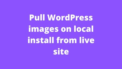 Pull WordPress images on local install from live site