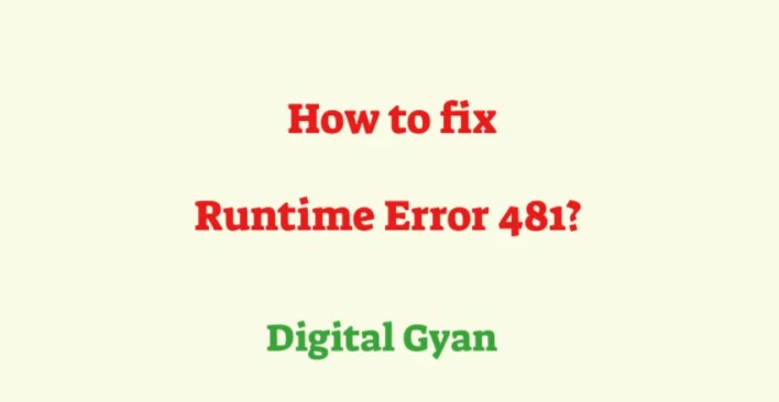 fix run time error 481