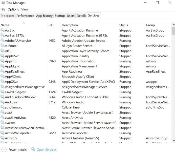 services UI process