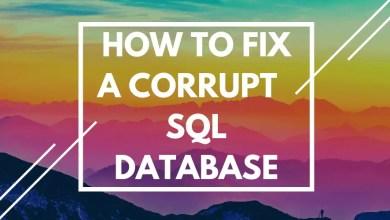 corrupt sql database