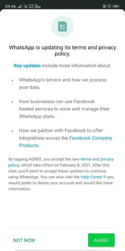 Whatsapp Privacy Agreement