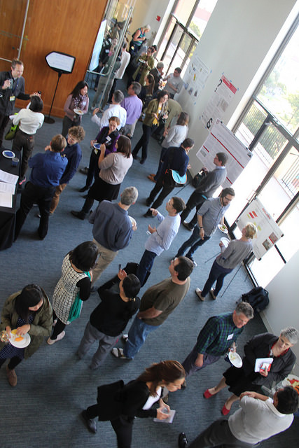 DH poster session viewed from above