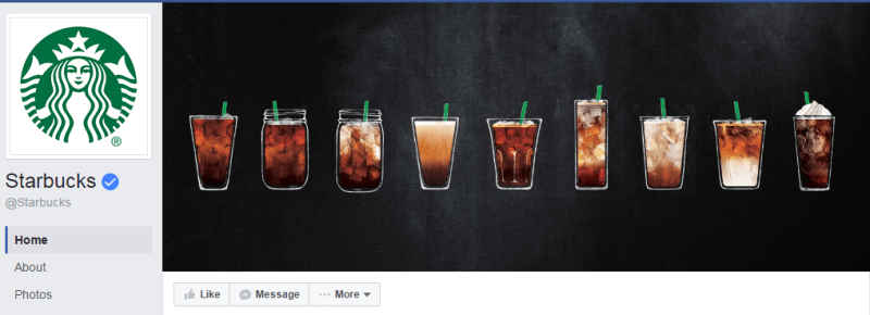 cover dan profile picture starbucks