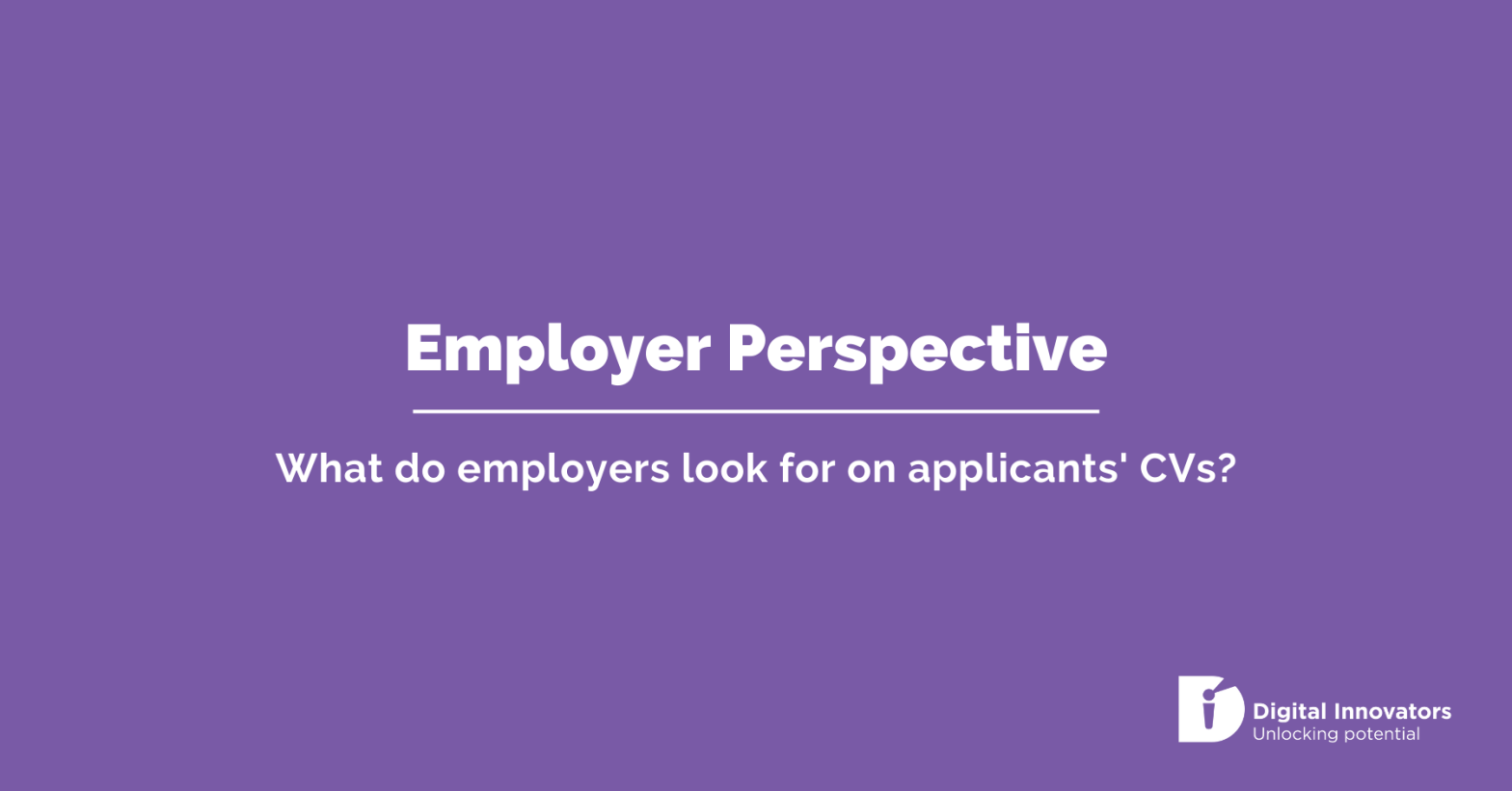 Employer Perspective