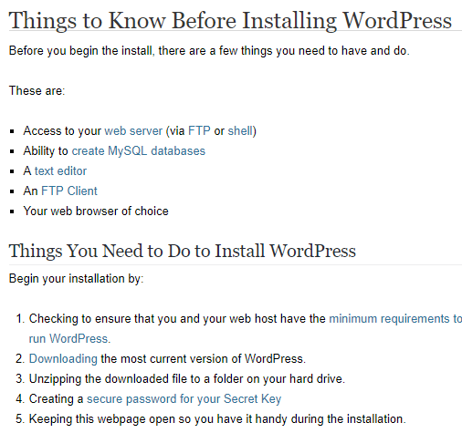 Things You Need to Know Before Installing WordPress