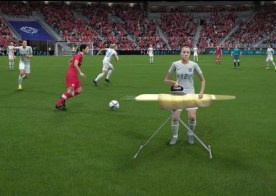 The mock-up of Lucy Bronze on Fifa 16.
