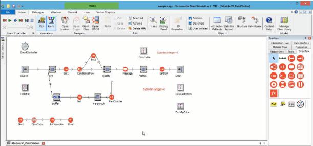 SmartTalk könyvtár - Vizuális programozás Plant Simulation alapon