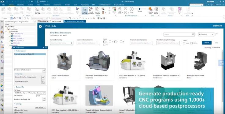 Felhő alapú NX posztprocesszor gyűjtemény (Post Hub)