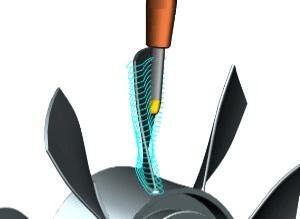 körszegmens maróval Siemens NX Turbomachinery marás.