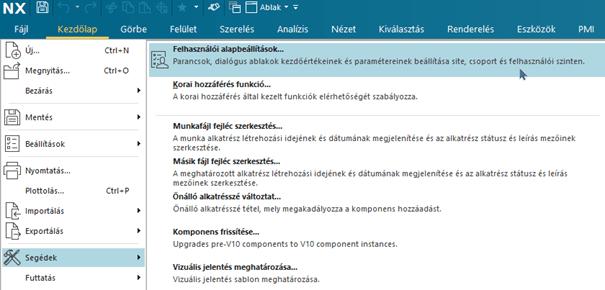 Magyar nyelvű NX-ben angol nyelvű parancsok keresése