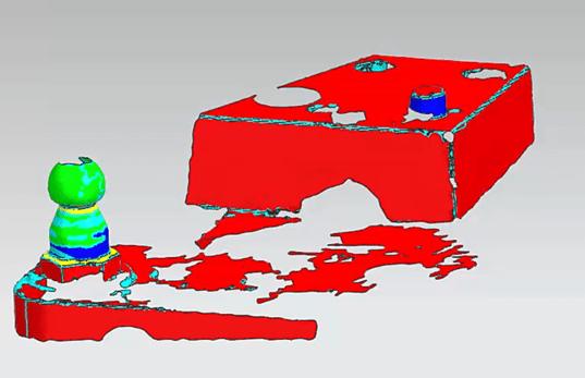 Szkennelt modell és analitikus alakelemek