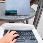 タブレット+BTトラックポイントキーボード。カフェでドヤることができるか?