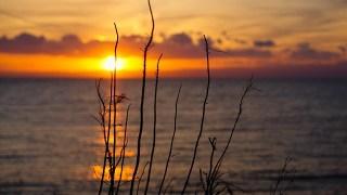 三浦半島の夕日スポット。三戸浜海岸へ行く。