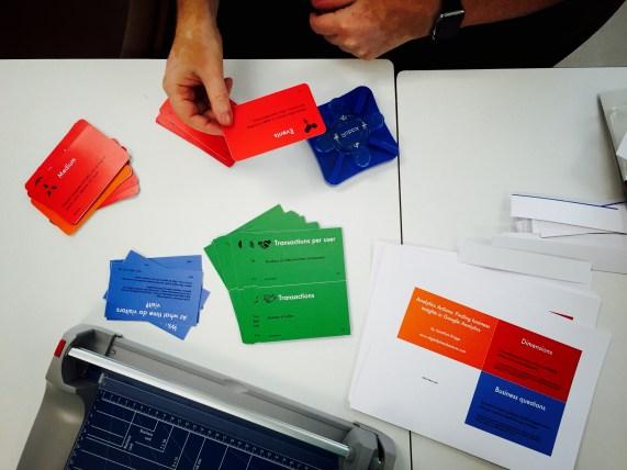 GA Cards prototype cutting