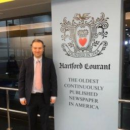 Hartford Courant political reporter Neil Vigdor.