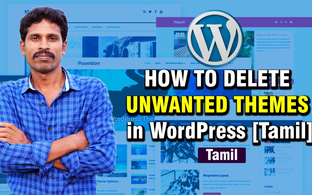 How to delete unwanted themes in WordPress