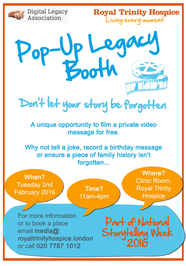Trinity Hospice - Pop-Up Legacy Booth