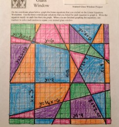 Stained Glass Math Activity   Linear Equations Project [ 2546 x 1904 Pixel ]